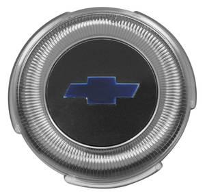 """1967 Chevelle Horn Center Cap, Reproduction """"Bowtie"""" Standard Wheel, by TRIM PARTS"""