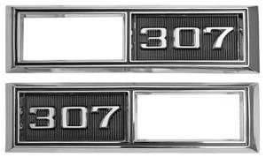 """Chevelle Fender Emblem, 1968 Marker Lamp Bezel """"307"""""""
