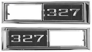 "Chevelle Fender Emblem, 1968 Marker Lamp Bezel ""327"", by TRIM PARTS"
