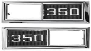 "El Camino Fender Emblem, 1968 Marker Lamp Bezel ""350"""