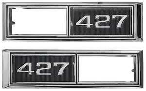 """Chevelle Fender Emblem, 1968 Marker Lamp Bezel """"427"""""""