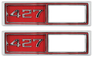"Marker Bezels, 1968 Front (Chevelle & El Camino) ""427"" Custom Red"