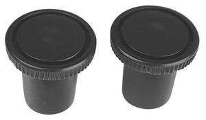 1964-73 GTO Vent Pull Knobs (Two-Piece) Black, by TRIM PARTS