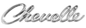 Chevelle Header Panel Script Emblem, 1968-69