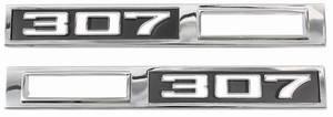 """Chevelle Fender Emblem, 1969 Marker Lamp """"307"""""""