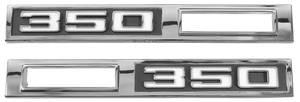 """Chevelle Fender Emblem, 1969 Marker Lamp """"350"""", by TRIM PARTS"""