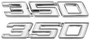 """Chevelle Fender Emblem, 1970-72 """"350"""", by TRIM PARTS"""
