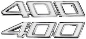 """Chevelle Fender Emblem, 1970-71 """"400"""", by TRIM PARTS"""