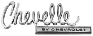 "Trunk Lid Emblem, 1970 ""Chevelle"""