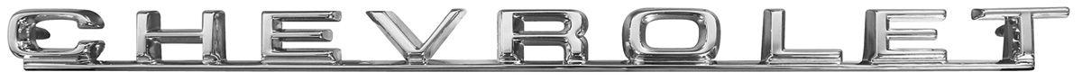 "Photo of Tailgate Emblem, 1967 ""Chevrolet"""