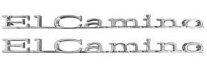 """Quarter Panel Emblem, 1967 """"El Camino"""""""