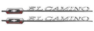 """Quarter Panel Emblem, 1966 """"El Camino"""", by TRIM PARTS"""