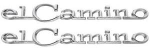 """Quarter Panel Emblem, 1968-69 """"El Camino"""", by TRIM PARTS"""