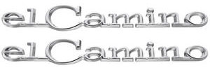 "Quarter Panel Emblem, 1968-69 ""El Camino"", by TRIM PARTS"
