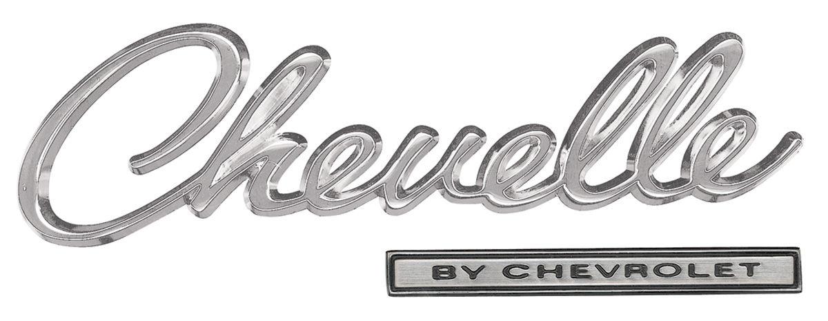 Chevelle Header Panel Emblem Kit, 1969 @ OPGI.com