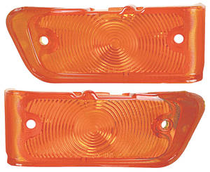 1967-1967 Chevelle Park Lamp Lens, 1967 Chevelle & El Camino Amber, by TRIM PARTS