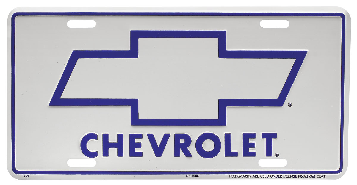 Photo of License Plate, Chevrolet Bowtie