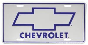 1978-1983 Malibu License Plate, Chevrolet Bowtie