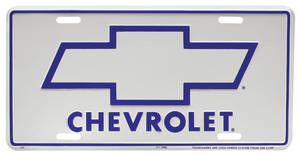 License Plate, Chevrolet Bowtie