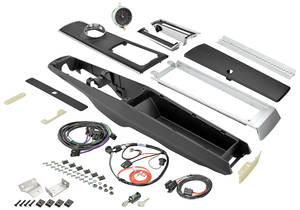 1967-1967 El Camino Console Kits, Center (1966-67 Automatic) w/Wiring & Clock w/Clock, by RESTOPARTS