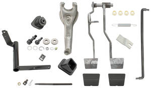 1964-66 Chevelle Clutch Linkage Kit, Complete Small Block