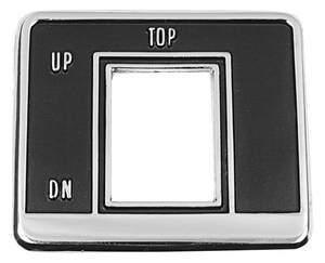 1969-1969 Bonneville Convertible Top Switch Bezel Black w/Chrome