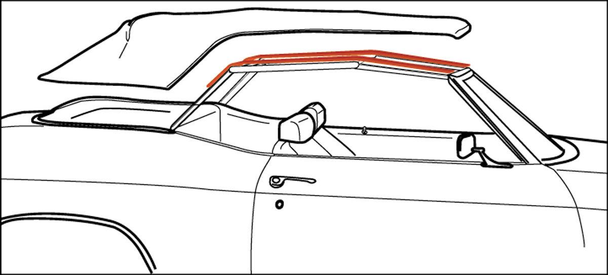 1964 442 convertible top pads   opgi com