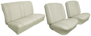 Seat Upholstery, 1963 Cutlass/F-85 Buckets w/2-dr. Coupe Rear, by Distinctive Industries