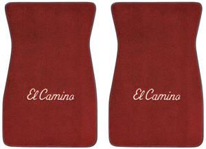 """1978-1987 El Camino Floor Mats, Carpet Matched Oem Style Carpet (Acc) """"El Camino"""" Block"""
