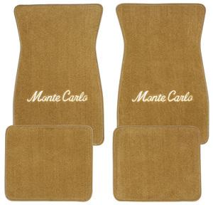 """1978-1988 Monte Carlo Floor Mats, Carpet Matched Oem Style Carpet (Acc) """"Monte Carlo"""" Script"""
