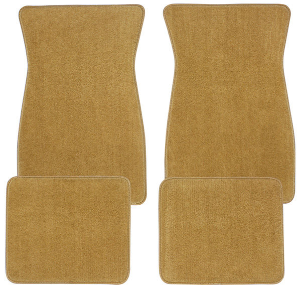 Photo of Floor Mats, Carpet Matched Oem Style - Front And Rear plain (cut pile)