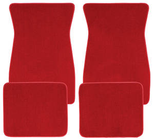 1978-88 Malibu Floor Mats, Carpet Matched Essex Carpet (Trim Parts) Blue Bowtie