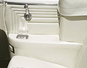 1967 Armrest Covers, Rear Convertible Grand Prix, by PUI