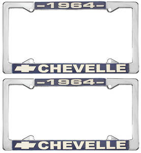 1964-1964 Chevelle License Plate Frames, Chevelle Custom, by RESTOPARTS