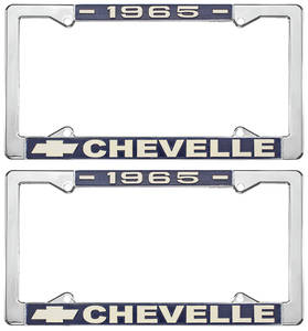 1965 License Plate Frames, Chevelle Custom, by RESTOPARTS