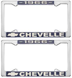 1966-1966 Chevelle License Plate Frames, Chevelle Custom, by RESTOPARTS