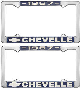 1967 License Plate Frames, Chevelle Custom