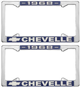 1968 License Plate Frames, Chevelle Custom