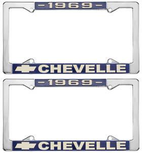 1969 License Plate Frames, Chevelle Custom, by RESTOPARTS