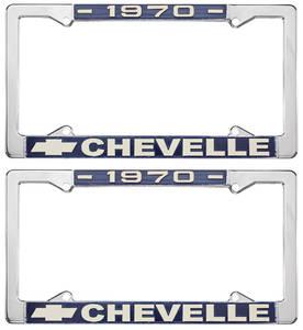 1970 License Plate Frames, Chevelle Custom, by RESTOPARTS
