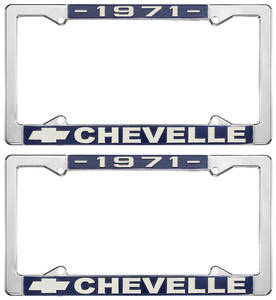 1971-1971 Chevelle License Plate Frames, Chevelle Custom, by RESTOPARTS