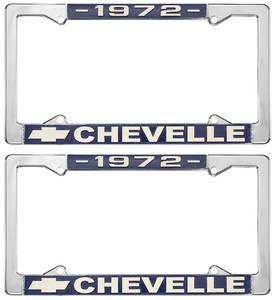 1972-1972 Chevelle License Plate Frames, Chevelle Custom, by RESTOPARTS