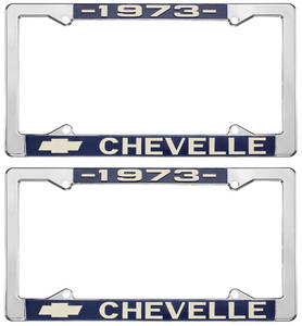 1973 License Plate Frames, Chevelle Custom, by RESTOPARTS