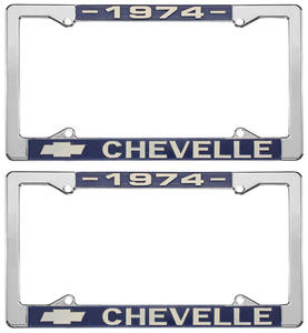 1974-1974 Chevelle License Plate Frames, Chevelle Custom, by RESTOPARTS