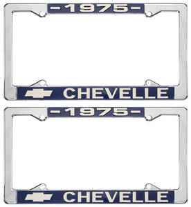 1975 License Plate Frames, Chevelle Custom, by RESTOPARTS