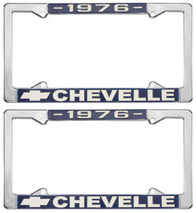 1976-1976 Chevelle License Plate Frames, Chevelle Custom, by RESTOPARTS