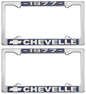 1977-1977 Chevelle License Plate Frames, Chevelle Custom, by RESTOPARTS