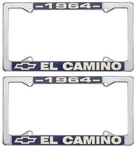 1964-1964 El Camino License Plate Frames, El Camino Custom, by RESTOPARTS