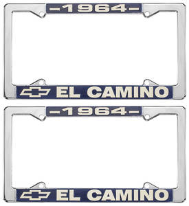 1964 License Plate Frames, El Camino Custom, by RESTOPARTS