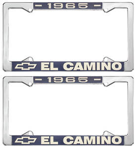 1965-1965 El Camino License Plate Frames, El Camino Custom, by RESTOPARTS